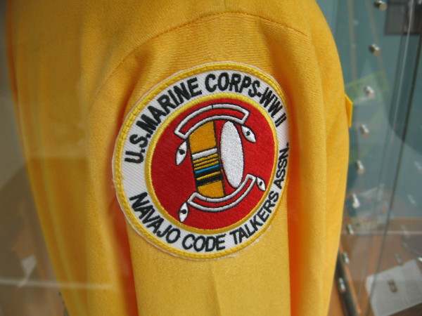Shoulder patch of U.S. Marine Corps--WWII Navajo Code Talkers Association.