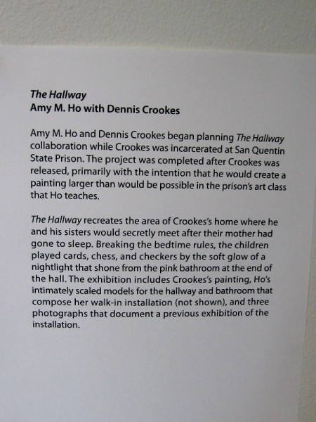 Prison art teacher Amy M. Ho and Dennis Crookes began planning The Hallway collaboration while Crookes was incarcerated at San Quentin State Prison.