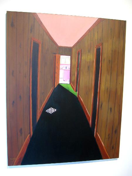 The Hallway, Dennis Crookes, acrylic on canvas, 2016.