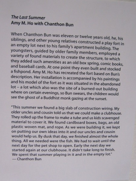 Chanthon Bun painted memories from a childhood that included a play fort in an abandoned lot, comic books, baseball cards and a fish pond he created with his siblings and young relatives.