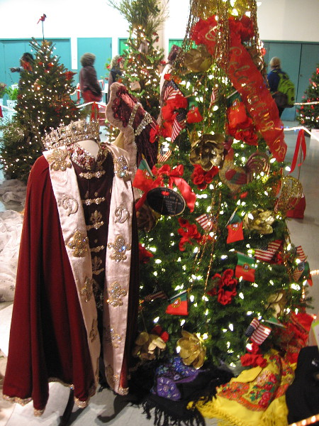 San Diego's Portuguese community contributed a Christmas tree and royal robe to the December Nights Festival of Trees inside the Casa del Prado.