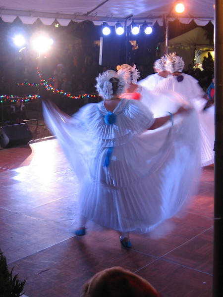 Graceful dancers perform at the International Cottages.