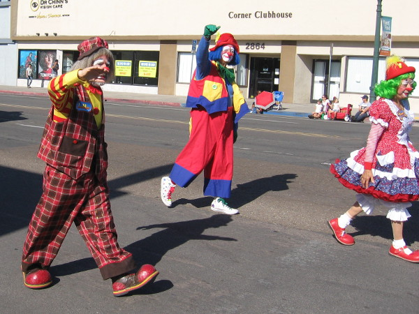 More goofy clowns.