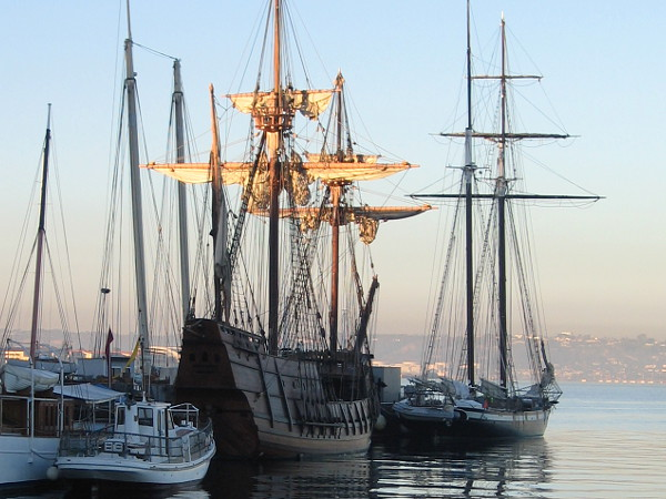 Morning magic at the Maritime Museum of San Diego.