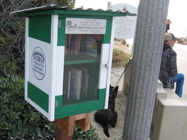 A lending box created by Boy Scouts and the Friends of the Coronado Public Library.