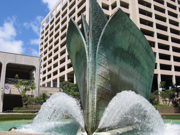 Cool photo of Bow Wave, created by artist Malcolm Leland in 1972.