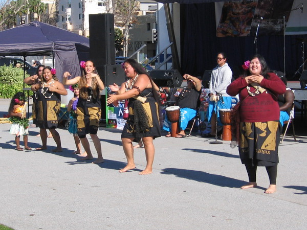 Members of the Imahen Taotao Tano-Micronesia Dance Group provide entertainment at the 2018 San Diego Multicultural Festival.