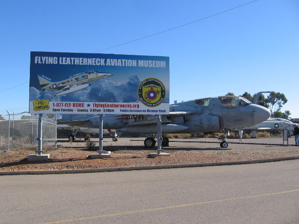 The Flying Leatherneck Aviation Museum in San Diego contains many aircraft that have been used during the history of the United States Marine Corps.