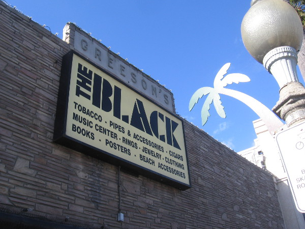 The Black in Ocean Beach occupies a building with a unique history. Greeson Hardware was once here, as were various markets, and the USO.