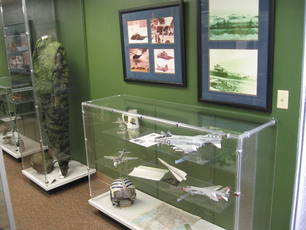 Inside the the Flying Leatherneck Aviation Museum, visitors can see one section devoted to USMC aviators and aircraft that participated in the Vietnam War.