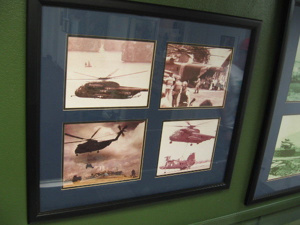Photos of Marine helicopter operations during the Vietnam War.