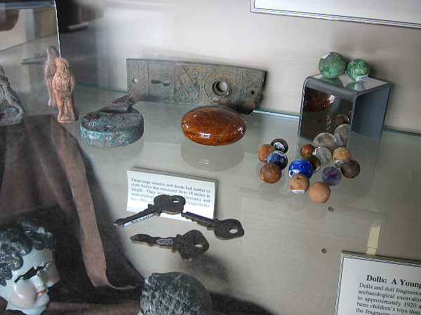 Other artifacts recovered during Petco Park's construction include dolls, toys, marbles and keys.