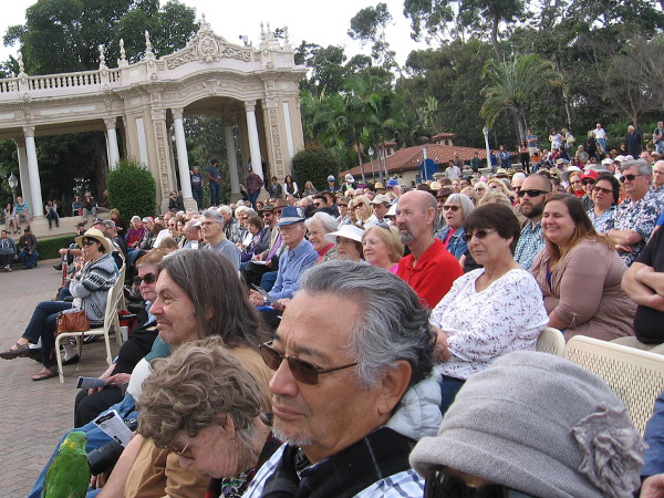 There were many smiles throughout the large audience at the Spreckels Organ Pavilion. Every bench was full.
