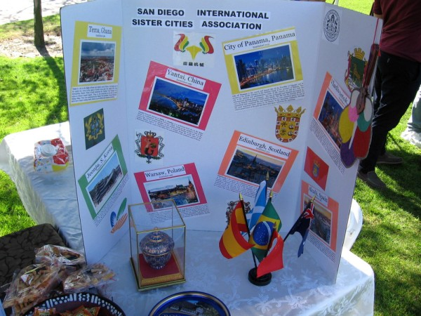 The San Diego International Sister Cities Association had a a couple of cool displays showing our 16 sister cities around the world.
