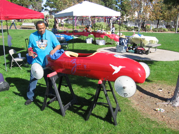 Cool guys with the Pazzaz Educational Enrichment Center had some Soap Box Derby gravity cars on display. Kids from the community are encouraged to participate in local races!