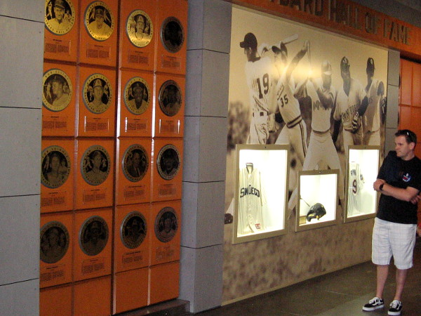 The Breitbard Hall of Fame was recently relocated from Balboa Park's Hall of Champions to the main concourse level of Petco Park. San Diego sports legends and champions are honored with plaques.