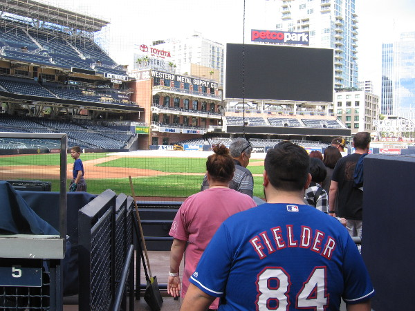 Here's another fun part of the Petco Park tour. Walking out onto the field!