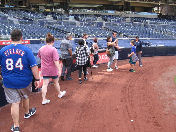 We head to the area behind home plate. In addition to other features, we are shown how Petco Park was built to provide close in, direct views of the action from every seat.