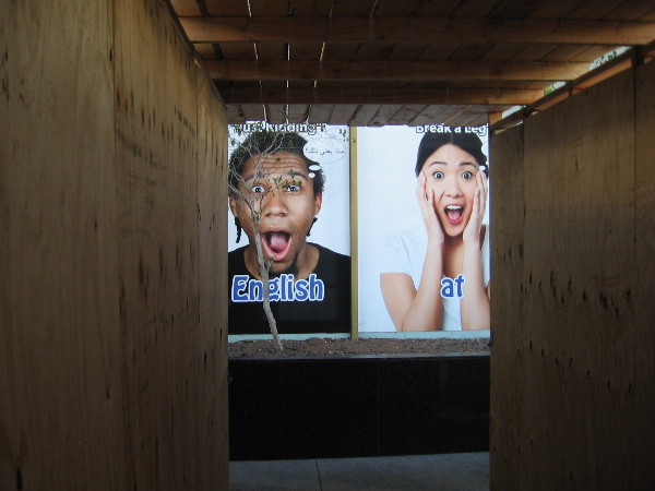 As I walked along Broadway through some construction, it looks like I frightened a couple of people!