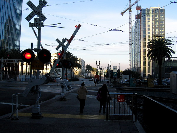 Almost to Santa Fe Depot. Just missed a trolley. I'll wait for the next one.