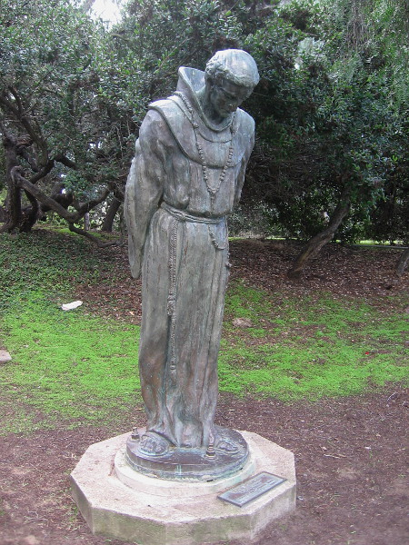 A Spanish friar seems to walk out of San Diego's very early history.