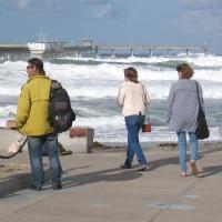 Storm brings huge surf to Ocean Beach Pier.