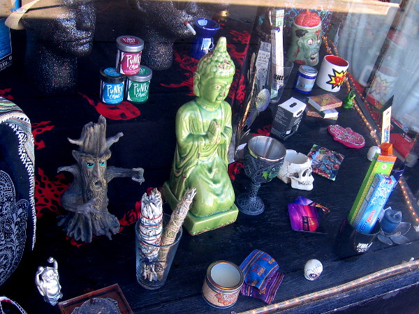 All sorts of cool, unconventional stuff can be seen in a store window at The Black.