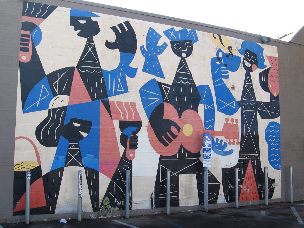 An unobstructed photo of the Joy of Urban Living mural by Rafael Lopez.