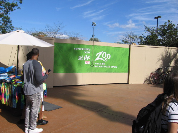 Something new is coming at the entrance to the San Diego Zoo. Your guess is as good as mine!