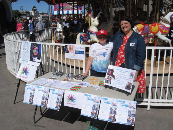These cool volunteers at Mission Beach's Belmont Park were informing the public about rare diseases.
