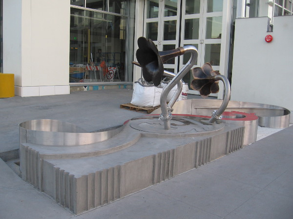 Public artwork is being installed outside the new City of San Diego Bayside Fire Station No. 2, at the corner of Cedar Avenue and Pacific Highway