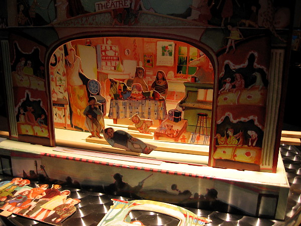 An example of a elaborate paper toy theater, a source of family entertainment in the 19th century.