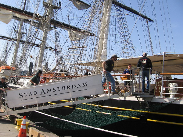Volunteers and sail crews from the Maritime Museum of San Diego got a special tour aboard the Stad Amsterdam.