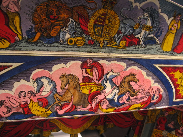 Detail from one highly ornate paper stage.