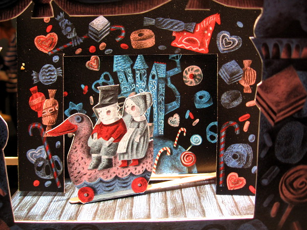 A fun Hansel and Gretel scene made of paper!