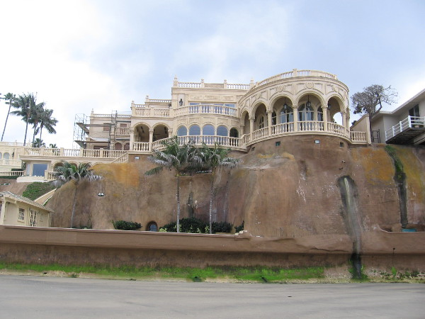 A palatial, almost 16,000-square-foot estate overlooking the beach in La Jolla, called Villa Pelagia. Locals call it the Sand Castle Mansion. The property built in 1929 once looked quite different.