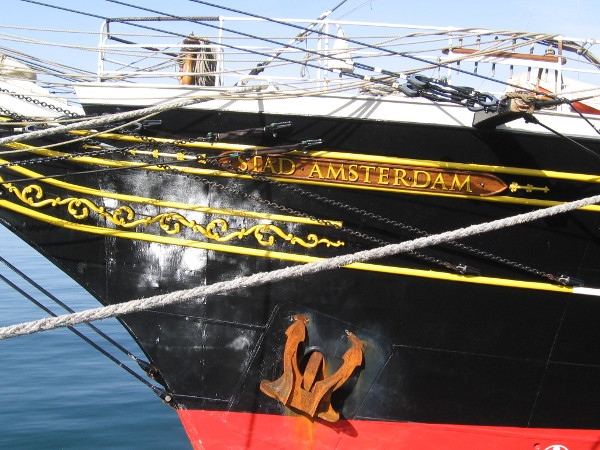 The profile, size and color scheme of Stad Amsterdam makes it appear a little bit like San Diego's own Star of India.