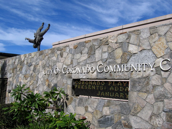 A surprising sculpture on top of the City of Coronado Community Center turns heads!