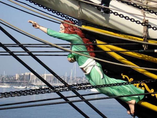 Figurehead of the beautiful Dutch tall ship Stad Amsterdam.