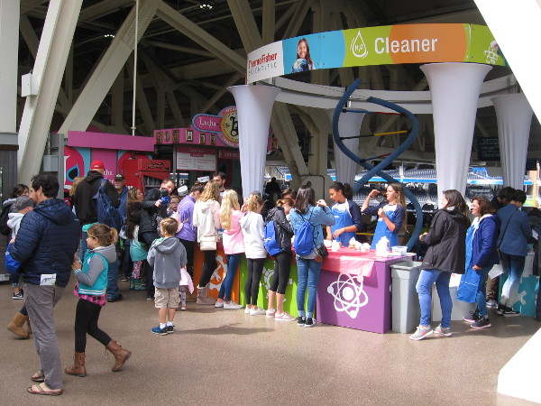 Thousands of curious kids attend EXPO Day at Petco Park during the 2018 San Diego Festival of Science and Engineering.