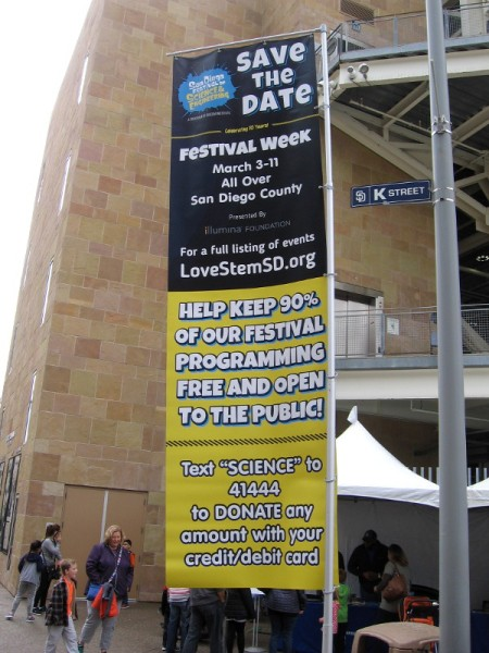 To help support STEM learning in San Diego and the San Diego Festival of Science and Engineering, read this banner.