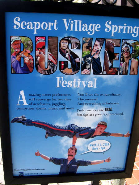 The 2018 Seaport Village Spring Busker Festival is taking place this weekend!