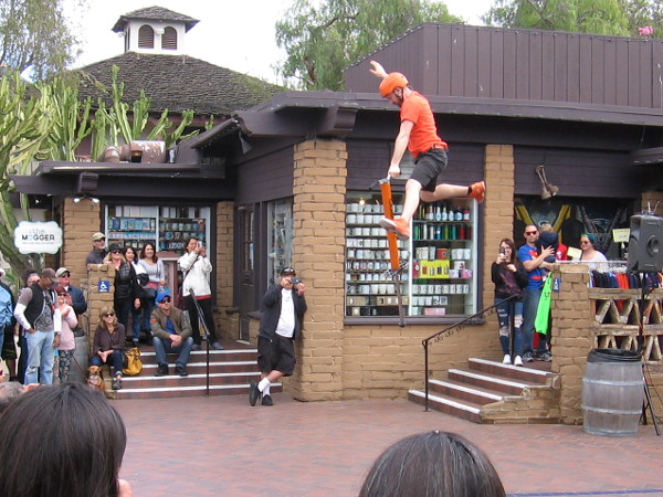 Some crazy, super high pogo sticking was the highlight of Wacky Chad's routine.