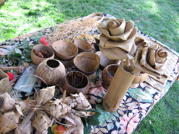 Many wonderful Chamorro arts and crafts displayed at the event.