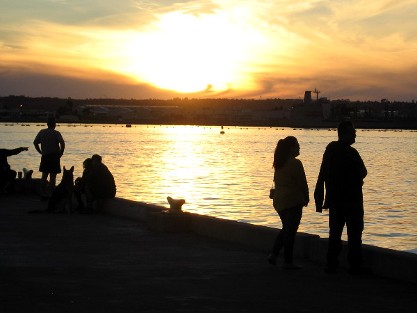 People watch another beautiful sunset across San Diego Bay.