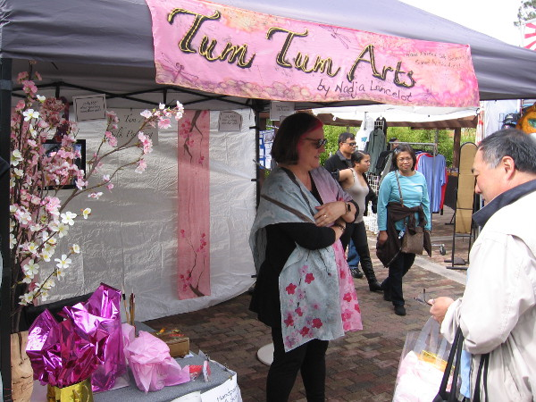 Vendors showcasing crafts and artwork at the festival included Tum Tum Arts.