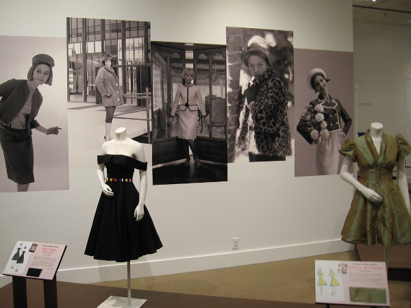 Photographs on the wall are from the collection of the San Diego History Center. They were taken by Charles Schneider, who during his long career contracted with UPI photographing film stars and entertainers.