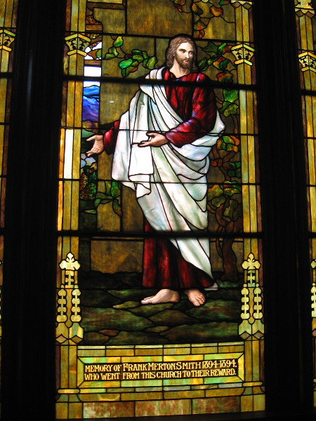 The likeness of Christ, created in memory of one of the faithful.