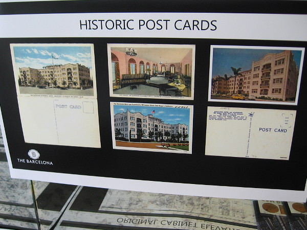 Historic postcards of The Barcelona in San Diego.