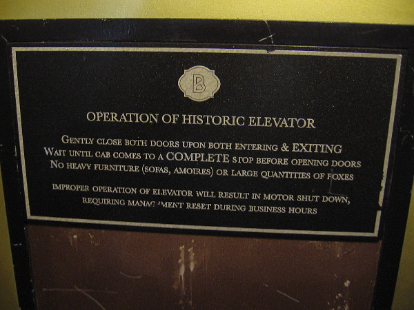 The cool old elevator reminded me of my childhood, when I dreamed of becoming an elevator operator!